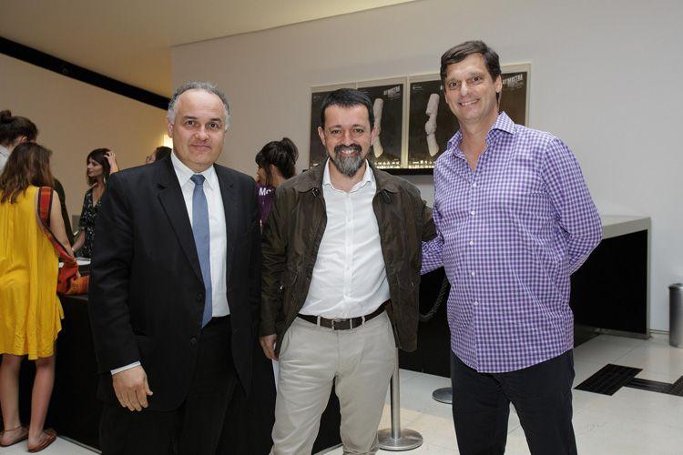Romildo Campelo (Secretário Adjunto do Estado), Rodrigo Mathias (Analista de Gestão de Patrocínios da Sabesp) e André Sturm (Secretário Municipal de Cultura)