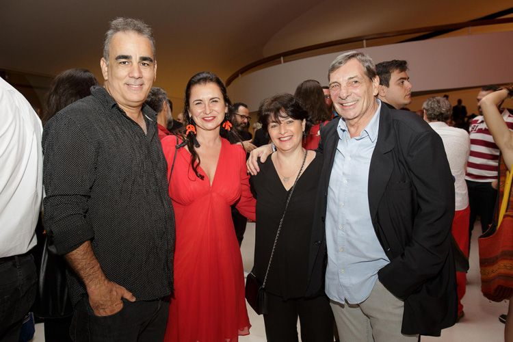 Sérgio Machado (cineasta), Katia Adler (jornalista), Adriana Rattes (roteirista) e Jean-Thomas Bernardini (Imovision)