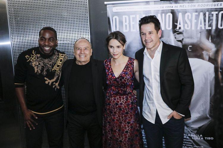 Espaço Itaú de Cinema - Augusta 1 / Lázaro Ramos, Stênio Garcia e Débora Falabella (atores do filme) e Murilo Benício (ator e diretor de Beijo no Asfalto)