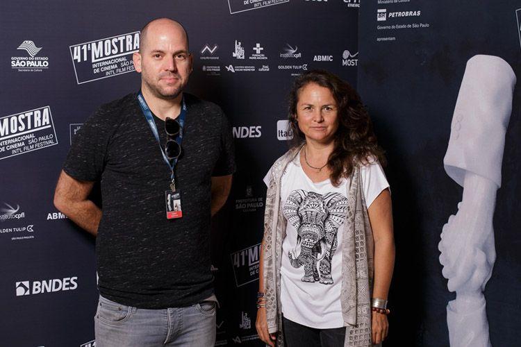 Shahaf Peled e Saskia Vischer, produtores do filme A Canção dos Escorpiões
