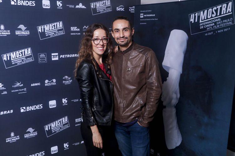 Andrea Camponovo, atriz e produtora do filme Eugenia, e o diretor Martín Boulocq