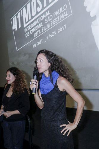Espaço Itaú de Cinema - Frei Caneca 2 / Tuca Siqueira, diretora de Amores de Chumbo, na sessão de seu filme