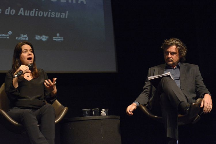 Instituto Itaú Cultural – I Fórum Mostra-Folha – Rumos do Cinema e do Audiovisual / Mesa 2 – Fundo Setorial do Audiovisual: Mudanças a Caminho? – Geórgia Costa Araújo (produtora - Coração da Selva), Fabiano Gullane (produtor)