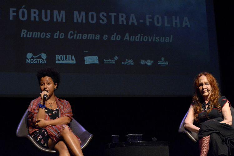 Instituto Itaú Cultural – I Fórum Mostra-Folha – Rumos do Cinema e do Audiovisual / Mesa 1 – Representatividade no Cinema – Glenda Nicácio (cineasta), Helena Ignez (atriz e cineasta)