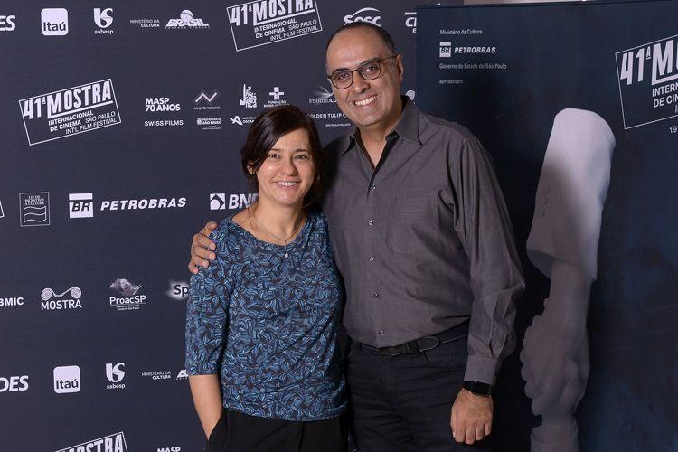 A diretora da Mostra, Renata de Almeida, e o produtor Ahmad Kiarostami, filho de Abbas Kiarostami (diretor do filme 24 Frames)